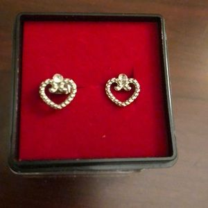 Adorable small heart stud earrings